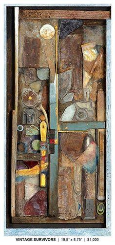 by Dwain Kelly Wood Mosaic, Mosaic Art, Diy Wall Art, Wood Wall Art, Wall Sculptures, Sculpture Art, Inchies, Found Object Art, Assemblage Art