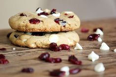 holiday cookie idea! white chocolate cranberry cookie!