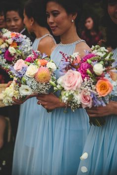 Wedding bouquets - this was in Queenstown Flower Room, Wedding Bouquets, Wedding Dresses, One Fine Day, Seasonal Flowers, Wedding Hairstyles, Floral Wreath, Bridesmaid Dresses, Wreaths