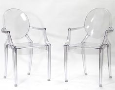 Lexington Modern Philippe Starck Style Louis Ghost Chair- Set of 2 $299