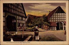 Ansichtskarte / Postkarte Alt westfälische Country House of the Munster Region, c 1914