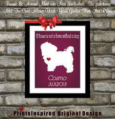 Custom Pet Name Personalized: Puppy Cute Small Dog Maltipoo Maltese Funny Gifts For Friends Pet Lover Animals Art Print on Etsy, $18.99