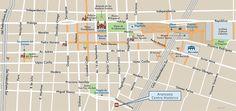 Mapa del Zona Turistica de Guadalajara