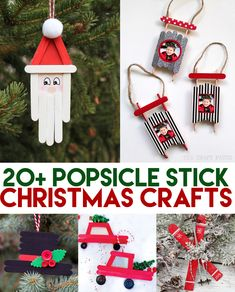 The Cutest Popsicle Stick Christmas Craft Ideas! Perfect snow day activity for the kids this holiday season. #christmascrafts #christmascraftsforkids #popsiclestickcrafts