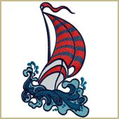 The Little Boat That Could Embroidery Design Embroidery Design