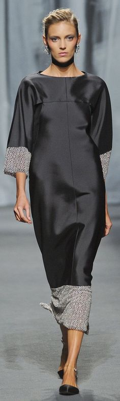 CHANEL. Love this style, but I would shorten the dress to just above the knee.