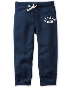 Carter's Little Boys' Basic Navy Athletic Pants  - Blue 7
