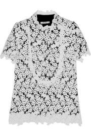 ErdemDeacon embroidered lace top