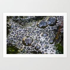 Bubbles Abstract Art Print by David Pyatt - $17.68