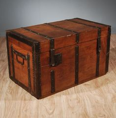 antique trunks add so much more character than a standard coffee table