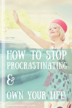 Procrastination is a nasty habit, that's for sure! Check out my 5 steps to stop procrastinating. Take control of your to-do list & own your life today!