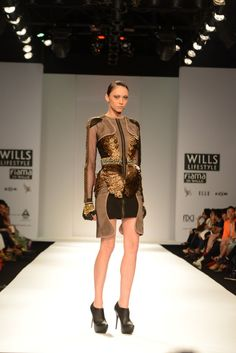 Gold and black shimmery tunic.