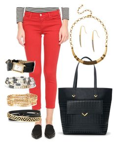 """Accessorize w Stella & Dot"" by kmathews62 on Polyvore featuring J Brand and Stella & Dot"