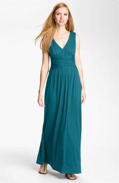 Three Dots V-Neck Jersey Maxi Dress | Nordstrom