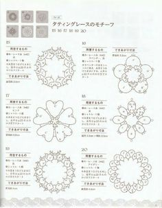 Il Chiacchierino ad Ago by DMC - Scuola Nazionale di Merceria Earrings tatting pattern by Collien Kaseberg The Tatting Needlework by DMC - National School of Haberdashery Middle Motif Translated to English: Machined needle with double thread. Tatting Armband, Tatting Bracelet, Tatting Earrings, Tatting Jewelry, Tatting Lace, Shuttle Tatting Patterns, Needle Tatting Patterns, Lace Patterns, Crochet Patterns