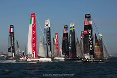 America's Cup - San Francisco 2013:  racing boats 10/7/2012