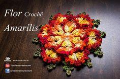 Flor de Crochê Amarílis vamos fazer?  http://ift.tt/2aJNWS0 #crochet #flor #professorasimone #semprecirculo