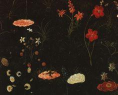 Sandro Botticelli, Primavera, Detail der Wiesenblumen (detail of the flowers in the meadow) Art Floral, Primavera Botticelli, Botanical Illustration, Illustration Art, Renaissance Kunst, Art Corner, Dark Art, Art Inspo, Art History