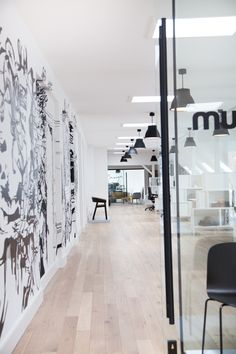Muuto in Copenhagen light graphic contrast workspace Workspace Design, Office Workspace, Office Spaces, Space Interiors, Office Interiors, Commercial Interior Design, Commercial Interiors, Office Fit Out, Workspace Inspiration