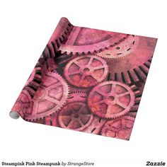 Steampink Pink Steampunk Wrapping Paper