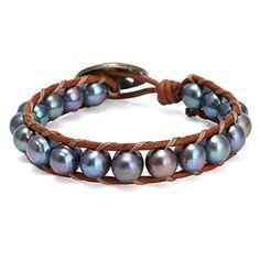 Pernnla Vintage Leather Wrap Bracelet with Black Cultured... https://www.amazon.com/dp/B071JN6KBS/ref=cm_sw_r_pi_dp_x_8klozbMEGEK63