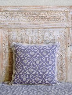 A truly affordable indulgence, go ahead and pick a couple of exotic cushion covers in different patterns to revive your throw pillows and cushions and give your room an effortless makeover. Cushion Covers, Throw Pillow Covers, Pillow Shams, Bed Pillows, Purple Bedspread, Purple Throw Pillows, Purple Home Decor, Decorative Cushions, Soft Colors