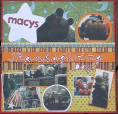 Macy's Thanksgiving Day Parade layout page 1 - Scrapbook.com