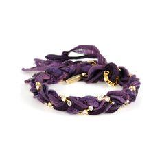 Ettika Purple Braided Bracelet ($55) ❤ liked on Polyvore featuring jewelry, bracelets, accessories, purple, pulseras, vintage bangle, vintage jewellery, ribbon jewelry, purple jewellery and fancy jewellery