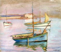 HENRI LEBASQUE-Boats-at-the-Port-Ile-de-Yeu