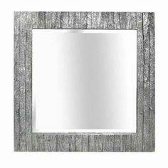 MCS 31.5 in. x 31.5 in. Wood Grain Square Framed Mirror-82043 at The Home Depot