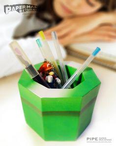 Warp Pipe pen holder