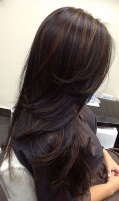 where to get baby haircut brown hair with caramel highlights and midlength hair 5528 | 685bd8b65b9cd691f784e933d1720973 balayage on black hair black hair ombre