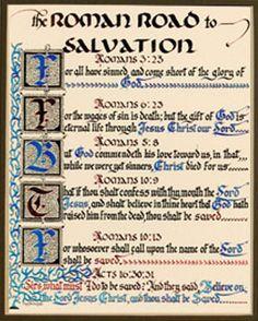 7 Best Roman Road to Salvation images | Bible verses ...