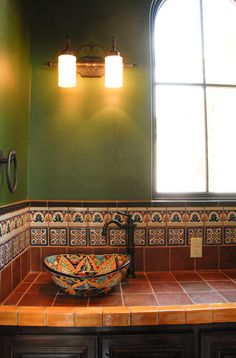 Bright Talavera Tile mode Austin Mediterranean Kitchen Decorating ideas with bathroom hacienda kitchen Mexican tile rustic saltillo tile talavera tile