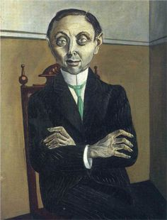 1921 Portrait of Paul F. Schmidt, by Otto Dix (German, 1891~1969)
