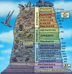 The Geologic History of Earth. Note the timescales. We are currently in the Holocene, which has been warm and moist and a great time to grow human civilization. But the activity of civilization is now pushing the planet into a new epoch which scientists call the Anthropocene. Climate Change And The Astrobiology Of The Anthropocene | NPR: Cosmos And Culture Ray Troll/Troll Art