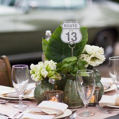 These table numbers add a fun twist to each table. Sold in a set of 20 of the most famous and historic US Routes, these table numbers were designed with the adventurer in mind. They coordinate perfectly with our Road Sign Escort Cards and are held perfectly by our Vintage Number Holder.  www.pressedcotton.com