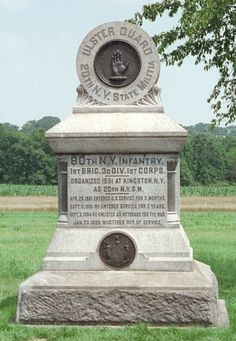 80th New York Infantry monument at Gettysburg (20th NY State Militia) - Located on Reynolds Ave., near where they were fighting on Day 1.