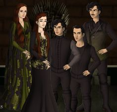 Lycorus Black and his wife Magenta Tripe with their children: Misapinoa Black (1826-1926), Cygnus I Black (1829-1855) and Arcturus (1831). They were all sorted into Slytherin at Hogwarts.