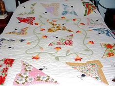 Simple wall hanging, handkerchief with multiple borders, by Nancy Bekofske Many people have emailed me for information on making handkerchief quilts. Here are some basic instructions and a list of resources....