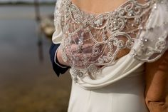Our 'Cassie' cape .on the stunning Jackie Cassie, Brides, Gowns, How To Wear, Vestidos, Dresses, Wedding Bride, Gown, Bridal