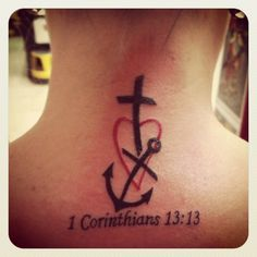 Faith Hope Love Tattoo   Faith, Hope, Love Tattoo on Back of the Neck   Tattoo Ideas