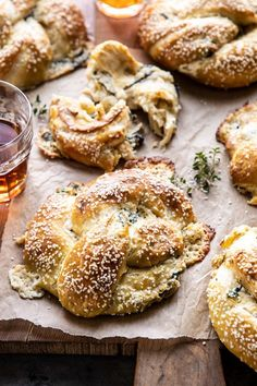 side angle photo of Spinach and Artichoke Stuffed Soft Pretzels Best Appetizers, Appetizer Recipes, Party Appetizers, Homemade Soft Pretzels, Good Food, Yummy Food, Healthy Food, Half Baked Harvest, Burger