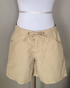 MAURICES Khaki Shorts womens 1/2 Khaki Beige athletic sport ...