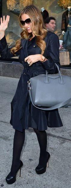 Sofía Vergara: Coat – Gucci  Purse – Givenchy  Shoes – Alice + Olivia