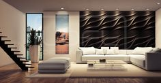 Tide - model 25 - salon/living room. Click at the photo to get more information or to visit our website.  #LoftDesignSystem #loftsystem #Decorativepanels #Inspiration #Interior #Design #wallpanels #3Ddecorativepanels #3dpanels #3dwallpanels #house #home #homedesign #Decorations #homedecorations  #salon #livingroom