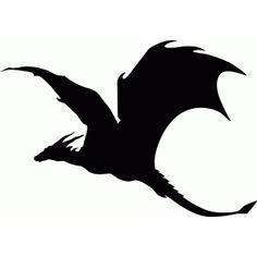 Silhouette Design Store - View Design #62682: soaring dragon silhouette