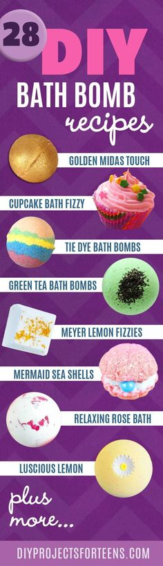Homemade DIY Bath Bombs | Bath Bombs Tutorial and Recipes Like Lush | Fun and Easy DIY Ideas - Cool and Cheap DIY Gifts | DIY Projects and Crafts by DIY JOY