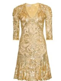 Uk Emilio Pucci Gold Sequins Silk Tulle Dress A line dress by Emilio Pucci