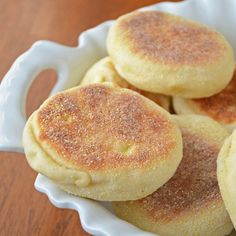 homemade english muffins.  I need to make these for Tate.  He loves breakfast sandwiches!